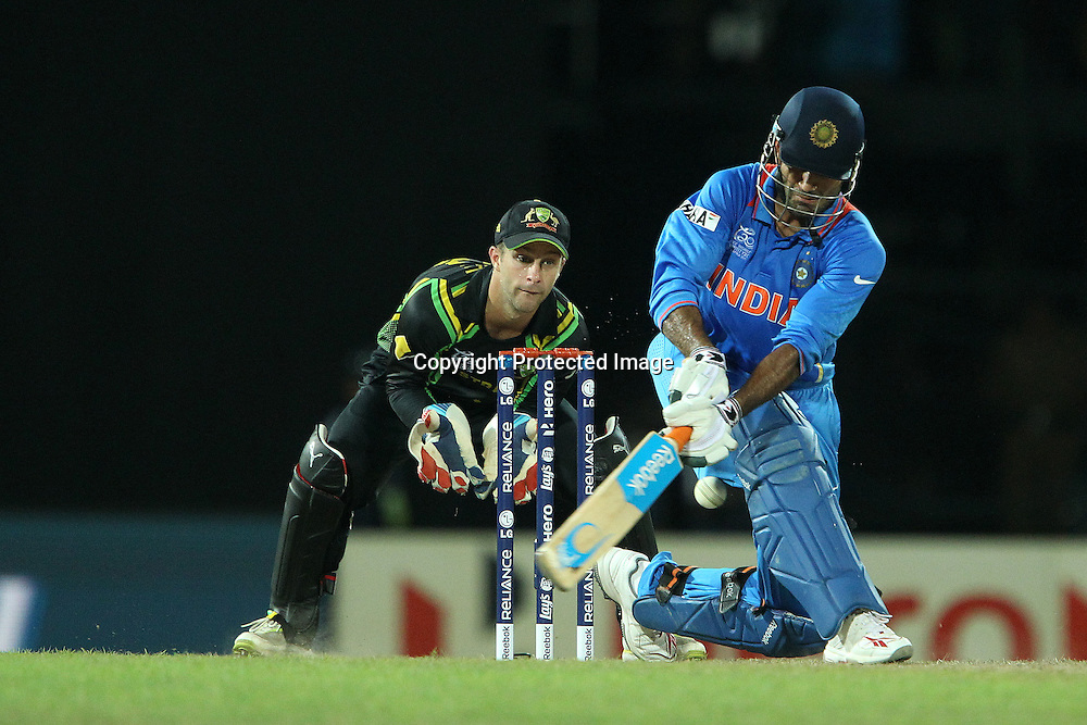 Irfan Pathan during the ICC World Twenty20 Super 8s match between Australia and India held at the Premadasa Stadium in Colombo, Sri Lanka on the 28th September 2012<br /> <br /> Photo by Ron Gaunt/SPORTZPICS
