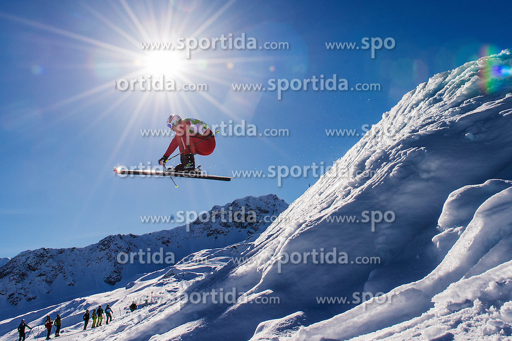 07.03.2014, Carmenna Extrempark, Arosa, SUI, FIS Weltcup Ski Cross, Arosa, im Bild Alex Fiva (SUI) gewinnt den Final // during the FIS Ski Cross World Cup Carmenna Extrempark in Arosa, Switzerland on 2014/03/07. EXPA Pictures © 2014, PhotoCredit: EXPA/ Freshfocus/ Andy Mueller<br /> <br /> *****ATTENTION - for AUT, SLO, CRO, SRB, BIH, MAZ only*****