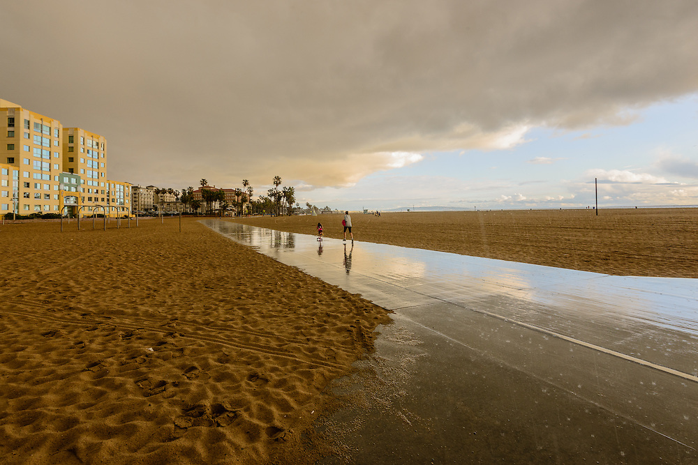 Santa Monica in the Rain, Santa Monica, California