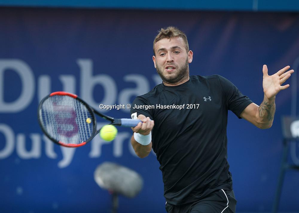 DANIEL EVANS (GBR)<br /> <br /> Tennis - Dubai Duty Free Tennis Championships - ATP -  Dubai Duty Free Tennis Stadium - Dubai -  - United Arab Emirates  - 1 March 2017. <br /> &copy; Juergen Hasenkopf