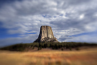 LB00153-00...WYOMING - Devils Tower along the Joyner Ridge Trail in Devils Tower National Momument. LensBaby Photo.