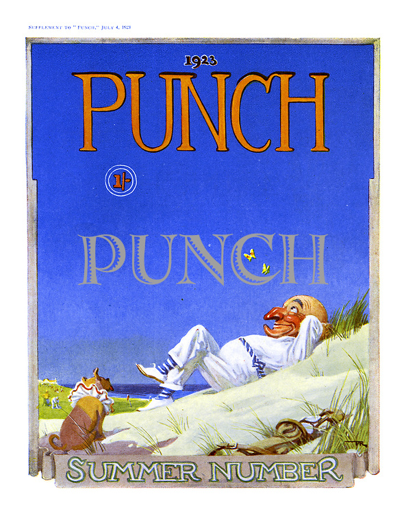 Punch Summer Number 1923 cover. July 4, 1923.