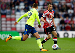 George Honeyman of Sunderland takes on Andreas Weimann of Derby County - Mandatory by-line: Matt McNulty/JMP - 04/08/2017 - FOOTBALL - Stadium of Light - Sunderland, England - Sunderland v Derby County - Sky Bet Championship