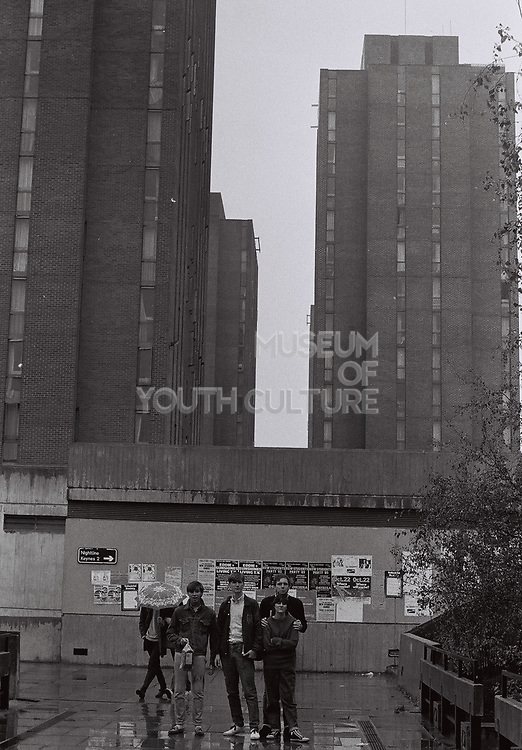 Friends on Essex University campus, Essex, UK, 1983