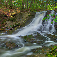 Jewell Falls are located at the Fore River Sanctuary in Portland, Maine. It's an amazingly beautiful hidden gem with a significant waterfall drop. <br />