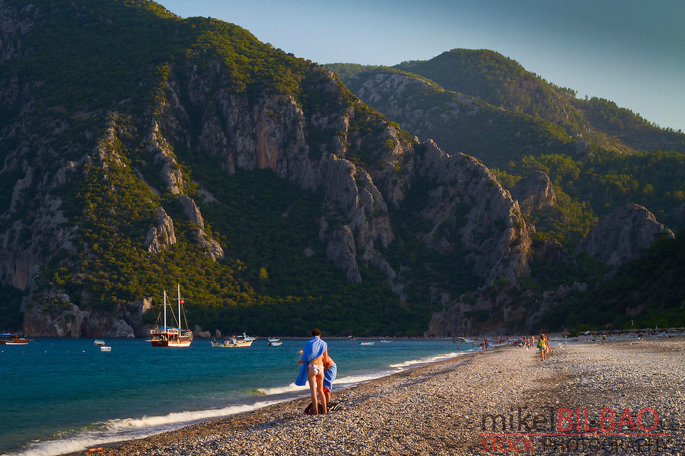 Cirah beach. Olympos coastal National Park. Antalya province. Mediterranean coast. Turkey.