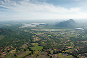 Aerial view flying East and South of Dambulla.