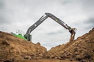 Volvo EC250E crawler excavator modified to work flood protection in the dutch Cortenoever. Photo: Erik Luntang