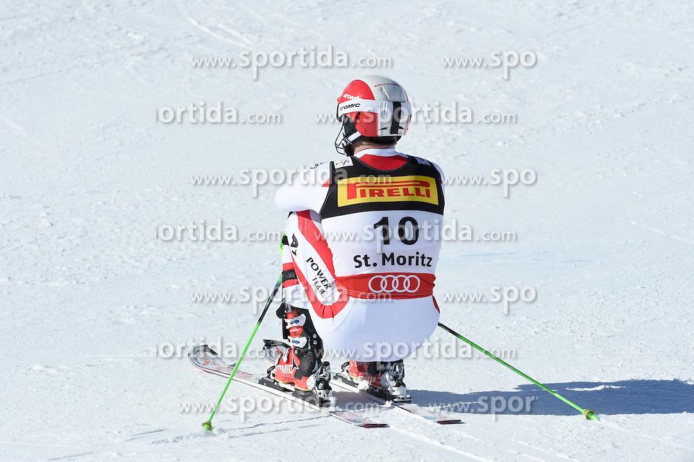 19.02.2017, St. Moritz, SUI, FIS Weltmeisterschaften Ski Alpin, St. Moritz 2017, Slalom, Herren, 2. Lauf, im Bild Marco Schwarz (AUT) // Marco Schwarz of Austria reacts after his 2nd run of men's Slalom of the FIS Ski World Championships 2017. St. Moritz, Switzerland on 2017/02/19. EXPA Pictures © 2017, PhotoCredit: EXPA/ Erich Spiess