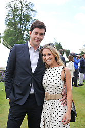 GEORGIE THOMPSON and RICHARD BLAKE at a luncheon hosted by Cartier for their sponsorship of the Style et Luxe part of the Goodwood Festival of Speed at Goodwood House, West Sussex on 1st July 2012.