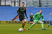Forest Green Rovers Aaron Collins(10) in action during the EFL Sky Bet League 2 match between Oldham Athletic and Forest Green Rovers at Boundary Park, Oldham, England on 15 February 2020.