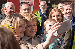 Pictured: First Minister Nicola Sturgeon drops in for morning tea at Favers Cafe, Portobello High Street<br /> <br /> <br /> &copy; Jon Davey/ EEm