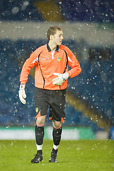 LEEDS, ENGLAND - Tuesday, December 2, 2008: Leeds United's goalkeeper Ryan Jones during the FA Youth Cup 3rd Round match against Liverpool at Elland Road. (Photo by David Rawcliffe/Propaganda)