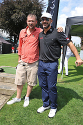 Left to right, DAN DAVIES and GIANLUCA VIALLI at the Leuka Mini Masters Golf at Dukes Meadows, Chiswick, London on 15th July 2011.