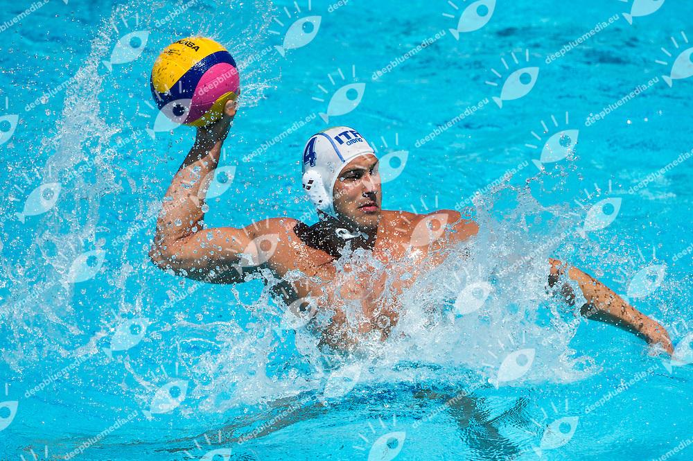 4 FIGLIOLI Pietro Italy ITA<br /> Italy ITA - Kazakhstan KAZ<br /> 15 FINA World Aquatics Championships<br /> Day-07 Waterpolo Men<br /> Barcelona 19 July - 4 August 2013<br /> Photo G.Barbagelata/Insidefoto/Deepbluemedia.eu