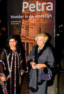 "LEIDEN – The arrival of Princess Beatrix , Princess Sumaya Bint El Hassan off jordania  for the opening of the exhibition "" Petra ,Wonder in the desert "" COPYRIGHT ROBIN UTRECHT"