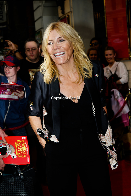 Garrick Theatre , London,UK. 2nd August 2017. Michelle Collins attends the Gangsta Granny - press performances.