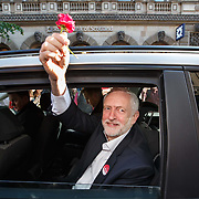 Jeremy Corbyn on election campaign trail. Making a speech on Buchanan Street, Glasgow, Scotland and meeting the crowds of people. Picture Robert Perry  7th June 2017<br /> <br /> Must credit photo to Robert Perry<br /> FEE PAYABLE FOR REPRO USE<br /> FEE PAYABLE FOR ALL INTERNET USE<br /> www.robertperry.co.uk<br /> NB -This image is not to be distributed without the prior consent of the copyright holder.<br /> in using this image you agree to abide by terms and conditions as stated in this caption.<br /> All monies payable to Robert Perry<br /> <br /> (PLEASE DO NOT REMOVE THIS CAPTION)<br /> This image is intended for Editorial use (e.g. news). Any commercial or promotional use requires additional clearance. <br /> Copyright 2014 All rights protected.<br /> first use only<br /> contact details<br /> Robert Perry     <br /> 07702 631 477<br /> robertperryphotos@gmail.com<br /> no internet usage without prior consent.         <br /> Robert Perry reserves the right to pursue unauthorised use of this image . If you violate my intellectual property you may be liable for  damages, loss of income, and profits you derive from the use of this image.