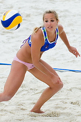 Simona Fabjan of Slovenia at CEV European Continental Beach Volleyball Cup for Olympic Qualification, on September 5, 2010, in Zrece, Slovenia. (Photo by Matic Klansek Velej / Sportida)