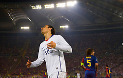 ROME, ITALY - Tuesday, May 26, 2009: Manchester United's Dimitar Berbatov looks dejected during his side's 2-0 defeat by Barcelona during the UEFA Champions League Final at the Stadio Olimpico. (Pic by Carlo Baroncini/Propaganda)