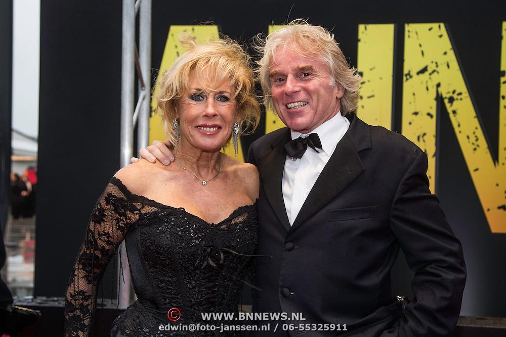 NLD/Amsterdam/20140508 - Wereldpremiere Musical Anne,Joke Bruijs en partner Boris Bayer
