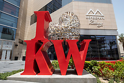 I Love Kuwait display outside Al Hamra Mall in Kuwait City, Kuwait