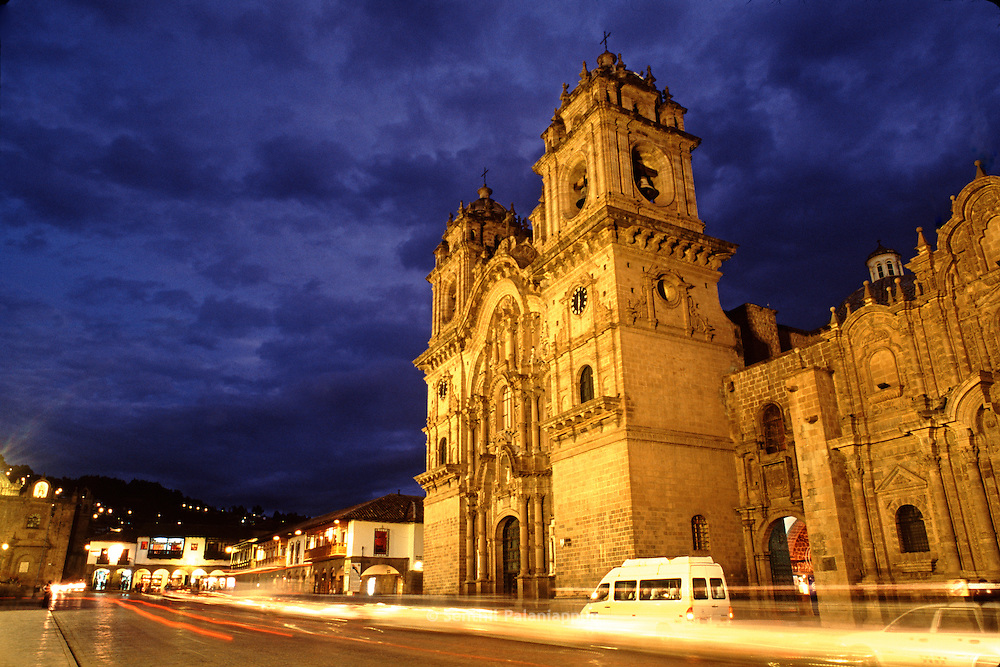 Cathedral at Twilight, Cusco, Peru