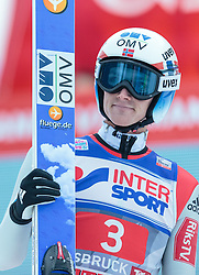 03.01.2016, Bergisel Schanze, Innsbruck, AUT, FIS Weltcup Ski Sprung, Vierschanzentournee, Bewerb, im Bild Anders Fannemel (NOR) // Anders Fannemel of Norway reacts after his Competition Jump of Four Hills Tournament of FIS Ski Jumping World Cup at the Bergisel Schanze, Innsbruck, Austria on 2016/01/03. EXPA Pictures © 2016, PhotoCredit: EXPA/ JFK