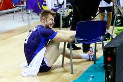 07.09.2014, Krakow Arena, Krakau, POL, FIVB WM, Italien vs USA, Gruppe D, im Bild Iwan Zajcew kontuzjowany, kontuzja, uraz / Ivan Zaytsev injury , injured // during the FIVB Volleyball Men's World Championships Pool D Match beween Italy and USA at the Krakow Arena in Krakau, Poland on 2014/09/07. EXPA Pictures © 2014, PhotoCredit: EXPA/ Newspix/ Krzysztof Porebski<br /> <br /> *****ATTENTION - for AUT, SLO, CRO, SRB, BIH, MAZ, TUR, SUI, SWE only*****