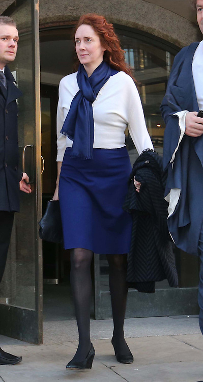 Rebekah Brooks leaving the Phone Hacking trial at the Old Bailey in London, Thursday, 20th February 2014. Picture by Stephen Lock / i-Images