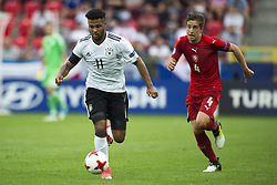 June 18, 2017 - Tychy, Poland - Serge Gnabry of Germany runs with the ball during the UEFA European Under-21 Championship 2017 Group C match between Germany and Czech Republic at Tychy Stadium in Tychy, Poland on June 18, 2017  (Credit Image: © Andrew Surma/NurPhoto via ZUMA Press)