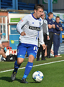 Craig Jones on the ball during the Sky Bet League 1 match between Bury and Port Vale at Gigg Lane, Bury, England on 19 September 2015. Photo by Mark Pollitt.