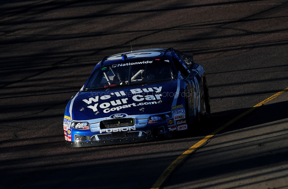 Nov 13, 2010; Avondale, AZ, USA; NASCAR Nationwide Series driver Carl Edwards (60) races during the WypAll 200 at Phoenix International Raceway. Mandatory Credit: Jennifer Stewart-US PRESSWIRE