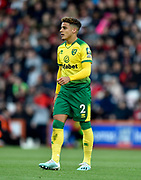 Max Aarons (2) of Norwich City during the Premier League match between Bournemouth and Norwich City at the Vitality Stadium, Bournemouth, England on 19 October 2019.