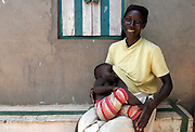 Ayisah Namusisi and baby Idi Bukenya. Kalangala. Ssese Islands. Uganda. Africa.
