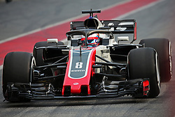 February 26, 2018 - Barcelona, Catalonia, Spain - the Haas of Romain Grosjean during the tests at the Barcelona-Catalunya Circuit, on 27th February 2018 in Barcelona, Spain. (Credit Image: © Joan Valls/NurPhoto via ZUMA Press)
