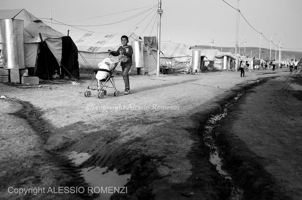 Iraqi Kurdistan, Kawergosk refugee camp. . ALESSIO ROMENZI