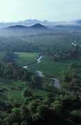 Aerial view of stream near Sigiriya.