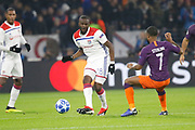 Ndombele Alvaro Tanguy of Lyon and Raheem Sterling of Manchester City during the UEFA Champions league, Group F football match between Olympique Lyonnais and Manchester City on November 27, 2018 at Groupama stadium in Decines-Charpieu near Lyon, France - Photo Romain Biard / Isports / ProSportsImages / DPPI