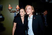 KRISTEN SCOTT THOMAS; MACKENZIE CROOK, Press night for Jerusalem. Apollo Theatre. Shaftesbury ave. After party at the Cafe de Paris. London. 10 February 2010