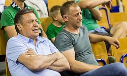 Zoran Jankovic and Tomaz Vnuk during basketball match between KK Union Olimpija and KK Rogaska in 2nd Final game of Liga Nova KBM za prvaka 2016/17, on May 19, 2017 in Hala Tivoli, Ljubljana, Slovenia. Photo by Vid Ponikvar / Sportida