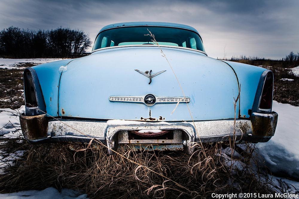 Saskatchewan Canada, Vintage Studebaker back