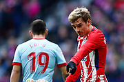 Atletico Madrid's French forward Antoine Griezmann reacts during the Spanish championship Liga football match between Atletico de Madrid and RC Celta on March 11, 2018 at the Wanda Metropolitano stadium in Madrid, Spain - Photo Benjamin Cremel / ProSportsImages / DPPI