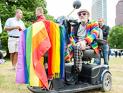 June 10, 2017 - The Hague, Netherlands - On June 10th in The Hague, several LGBTQI organizations are preparing a Pride Walk for the first time in The Hague. With the walk they will celebrate sexuality and gender-diversity, and also they give a visible signal that they are here and that they can be their-selves. The Mayor of The Hague Pauline Krikke will be opening the Pride Walk. (Credit Image: © Romy Arroyo Fernandez/NurPhoto via ZUMA Press)