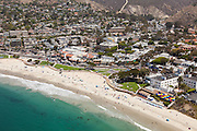 Aerial of Downtown Laguna Beach