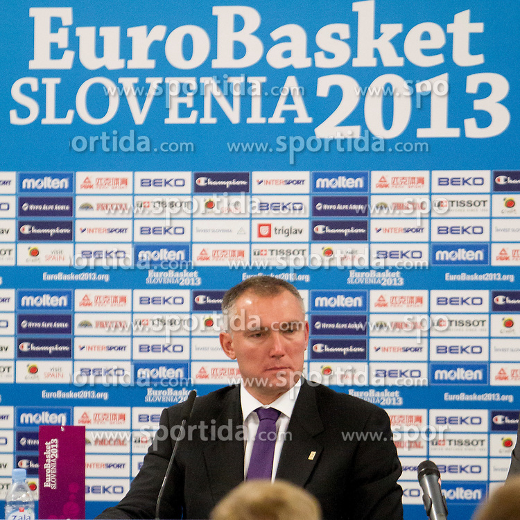Kamil Novak, FIBA Europe Secretary General during press conference at Last Day of Eurobasket 2013 on September 22, 2013 in SRC Stozice, Ljubljana, Slovenia. (Photo By Urban Urbanc / Sportida)