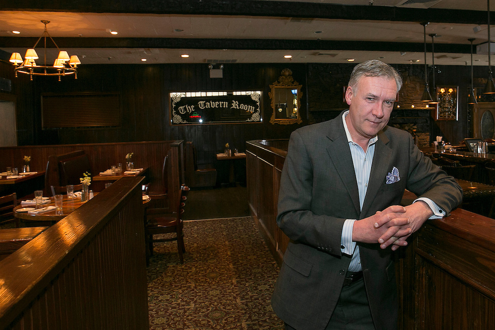 February 10, 2015, Boston, Massachusetts:<br /> Gerry Lynch, General Manager of the Stockyard Steakhouse Restaurant, poses for a portrait in the seating area of the Stockyard Steakhouse restaurant in Brighton, Massachusetts is shown Tuesday, February 10, 2015.<br /> (Photo by Billie Weiss/Next Step Living)