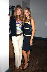 Left to right, MRS KATE SIMON and her daughter MISS JESSICA SIMON at a party to view the designs of Jessica Simon at the beginning of London Fashion Week held at The Electric Cinema, Portabello Road, London on 19th September 2004.<br />