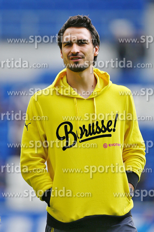 02.05.2015, Rhein Neckar Arena, Sinsheim, GER, 1. FBL, TSG 1899 Hoffenheim vs Borussia Dortmund, 31. Runde, im Bild Mats Hummels (Borussia Dortmund), Emotionen, Freisteller // during the German Bundesliga 31th round match between TSG 1899 Hoffenheim and Borussia Dortmund at the Rhein Neckar Arena in Sinsheim, Germany on 2015/05/02. EXPA Pictures &copy; 2015, PhotoCredit: EXPA/ Eibner-Pressefoto/ Neis<br /> <br /> *****ATTENTION - OUT of GER*****