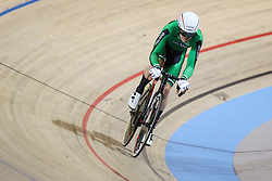 March 2, 2018 - Apeldoorn, Netherlands - Mark Downey of Ireland competes during the men's points race final during the UCI Track Cycling World Championships in Apeldoorn on March 2, 2018. (Credit Image: © Foto Olimpik/NurPhoto via ZUMA Press)